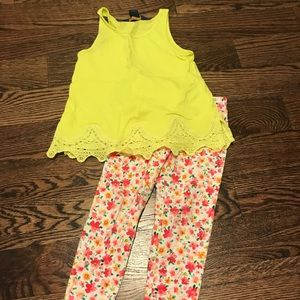 Toddler girl Ralph Lauren top and leggings .